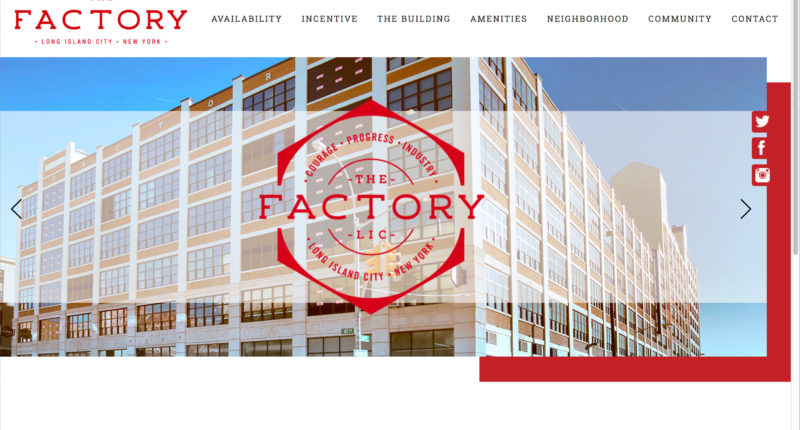 TheFactoryLIC Building's Website, Brochure, and Advertising Media Campaigns for Office Spaces