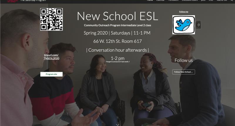 Teaching English at the New School's TESOL