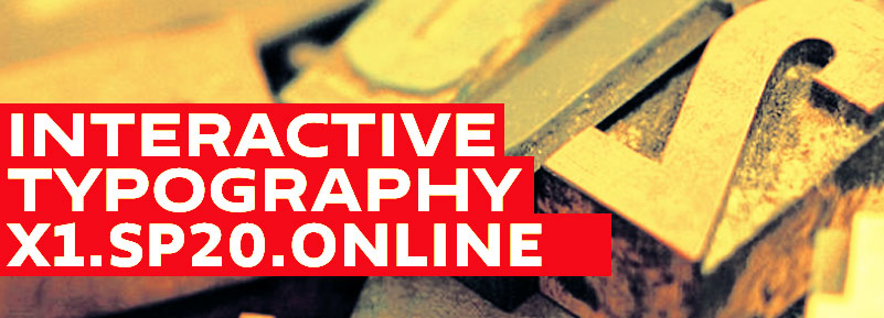 Interactive Typography Online course at Parsons